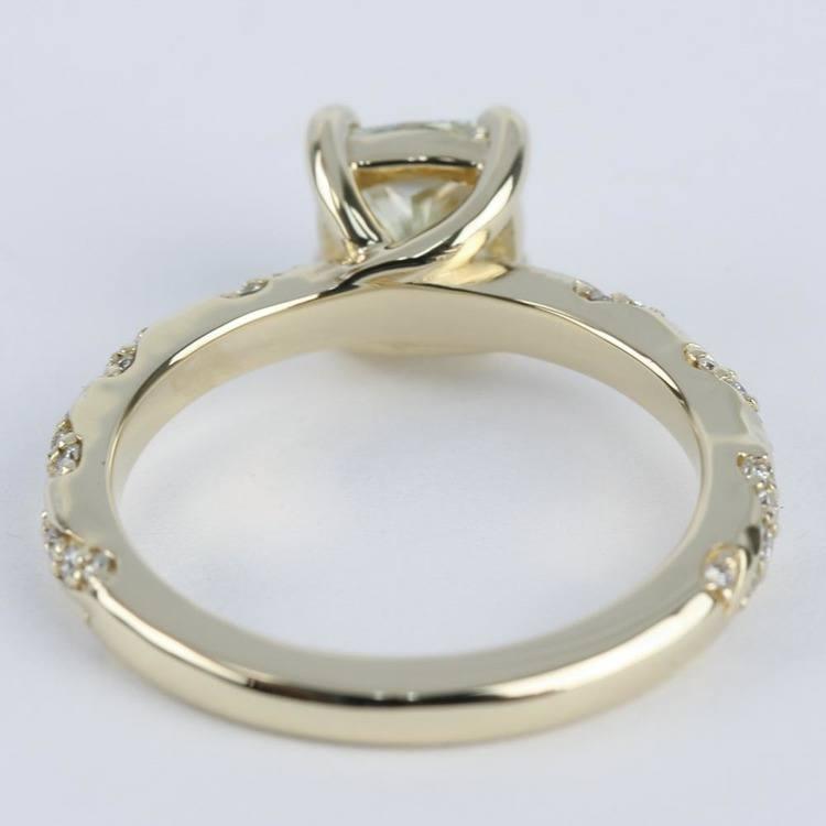 1.30 Carat Cushion Twisted Diamond Engagement Ring angle 4