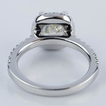 1.31 Carat Cushion Cut Diamond Halo Engagement Ring - small angle 4