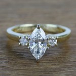 1.33 Carat Marquise & Round Diamond Engagement Ring - small