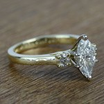 1.33 Carat Marquise & Round Diamond Engagement Ring - small angle 3