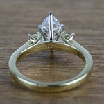 1.33 Carat Marquise & Round Diamond Engagement Ring - small angle 4
