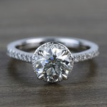 Custom Hidden Diamond Halo Engagement Ring (1.40 Carat) - small