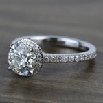 Custom Hidden Diamond Halo Engagement Ring (1.40 Carat) - small angle 2