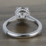 Custom Hidden Diamond Halo Engagement Ring (1.40 Carat) - small angle 4