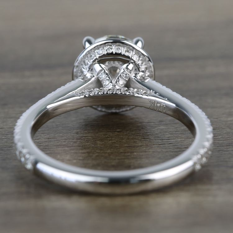Custom Hidden Diamond Halo Engagement Ring (1.40 Carat) angle 4