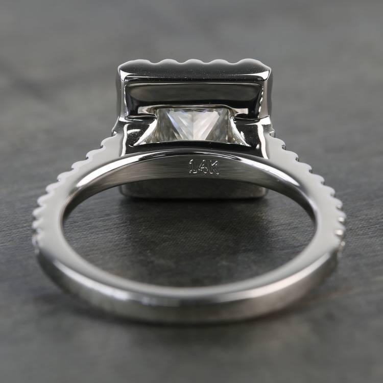 1.41 Carat Princess Halo Diamond Engagement Ring angle 4