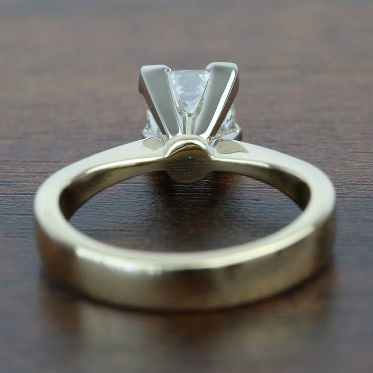 1.5 Carat Flat Taper Solitaire Princess Diamond Engagement Ring angle 4