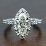 1.5 Carat Marquise Halo Diamond Engagement Ring - small