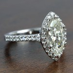 1.5 Carat Marquise Halo Diamond Engagement Ring - small angle 3