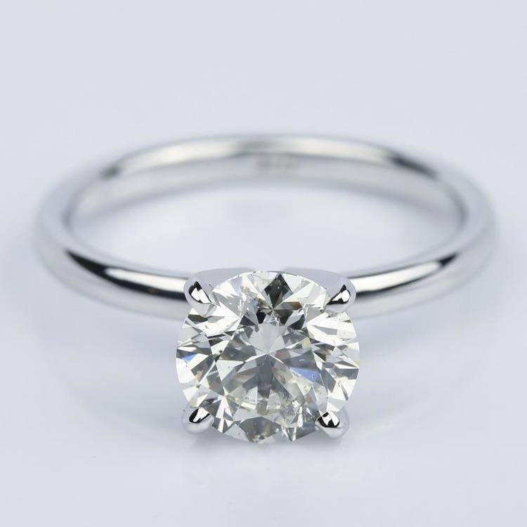 1.50 Carat Round-Cut Diamond Solitaire Engagement Ring
