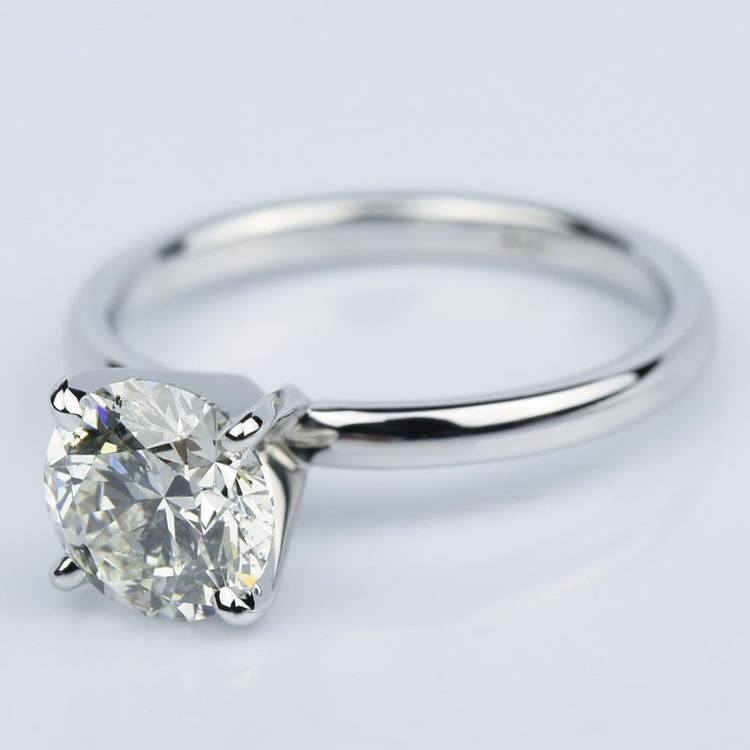 1.50 Carat Round-Cut Diamond Solitaire Engagement Ring angle 2