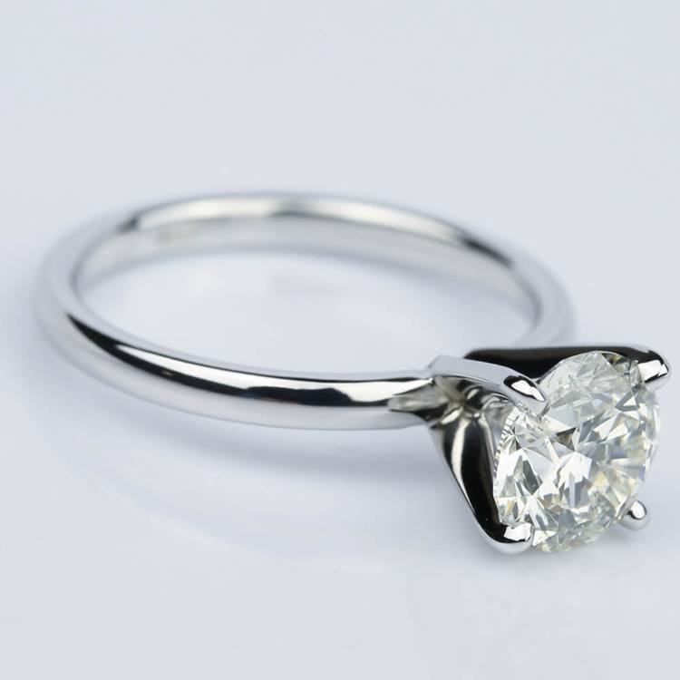 1.50 Carat Round-Cut Diamond Solitaire Engagement Ring angle 3