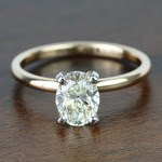 1.51 Carat Oval Diamond Comfort-Fit Solitaire Engagement Ring - small