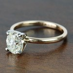 1.51 Carat Oval Diamond Comfort-Fit Solitaire Engagement Ring - small angle 2