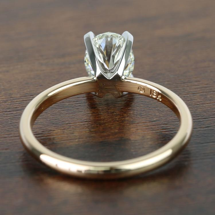 1.51 Carat Oval Diamond Comfort-Fit Solitaire Engagement Ring angle 4