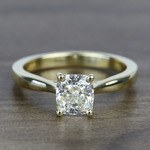 1.51 Carat Taper Cushion Solitaire Diamond Engagement Ring - small