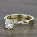 1.51 Carat Taper Cushion Solitaire Diamond Engagement Ring - small angle 2