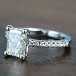 1.52 Super Ideal Radiant Loose Diamond Engagement Ring - small angle 2