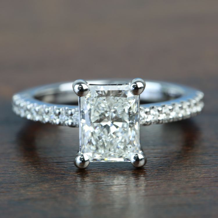 1.52 Super Ideal Radiant Loose Diamond Engagement Ring