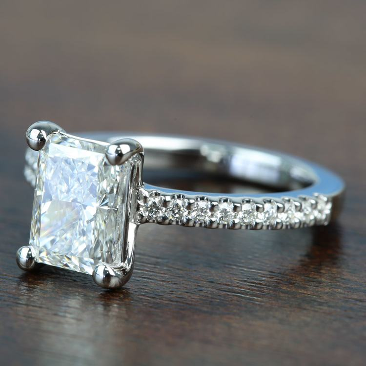 1.52 Super Ideal Radiant Loose Diamond Engagement Ring angle 2