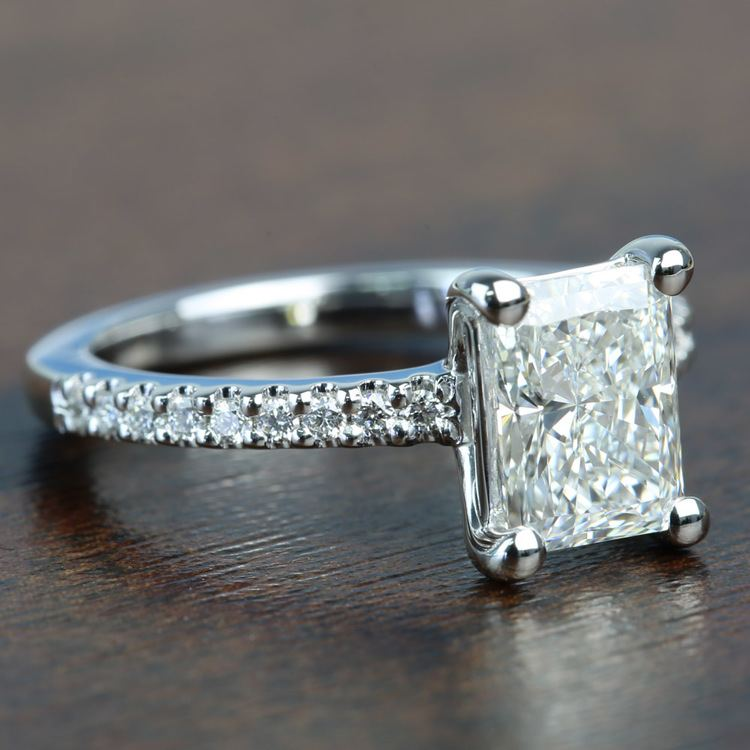 1.52 Super Ideal Radiant Loose Diamond Engagement Ring angle 3