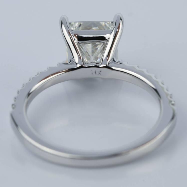 1.56 Carat Princess Diamond Scallop Engagement Ring angle 4