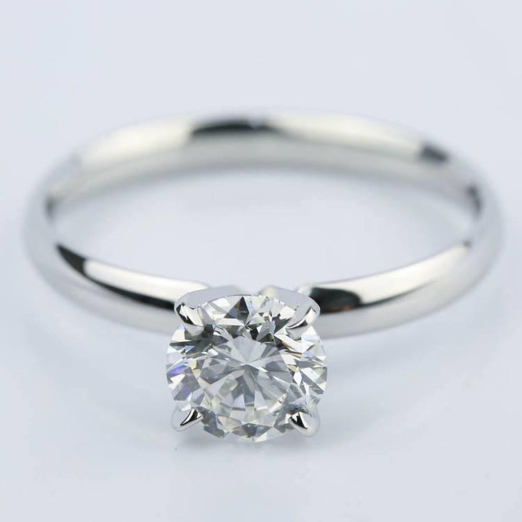 1.60 Carat Round Cut Diamond Engagement Ring