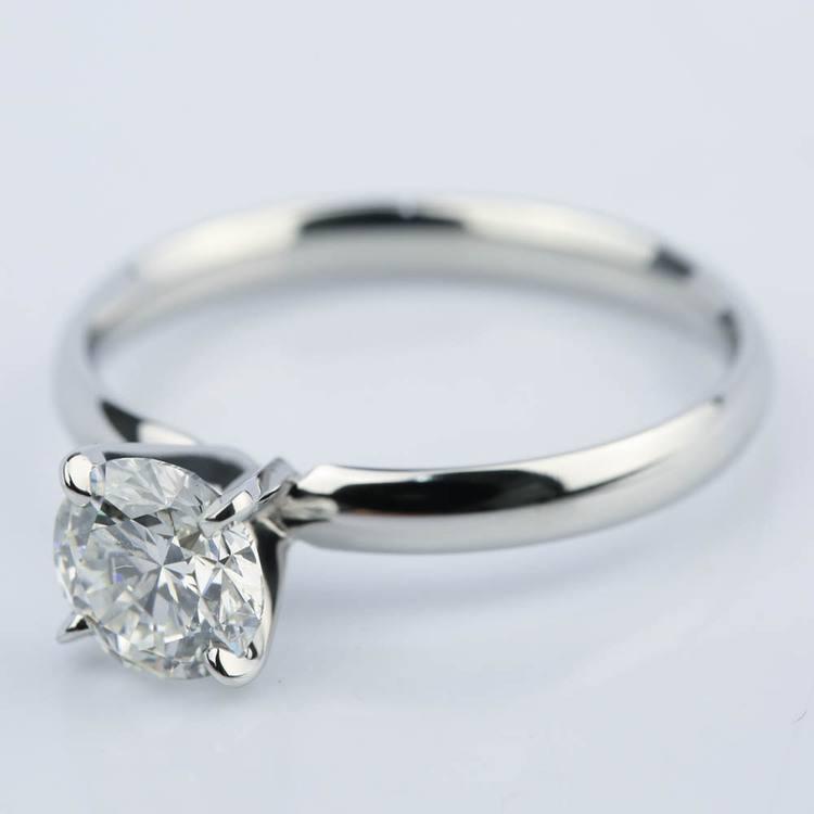 1.60 Carat Round Cut Diamond Engagement Ring angle 2