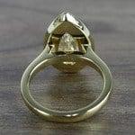 Dramatic Pear Cut Diamond with Yellow Gold Halo (1.50 Carat) - small angle 4