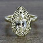 Dramatic Pear Cut Diamond with Yellow Gold Halo (1.50 Carat) - small
