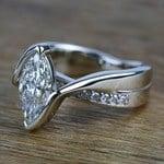 1.66 Carat Marquise Bezel Diamond Bridge Engagement Ring - small angle 2