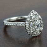 1.73 Carat Pear Halo Diamond Engagement Ring - small angle 3