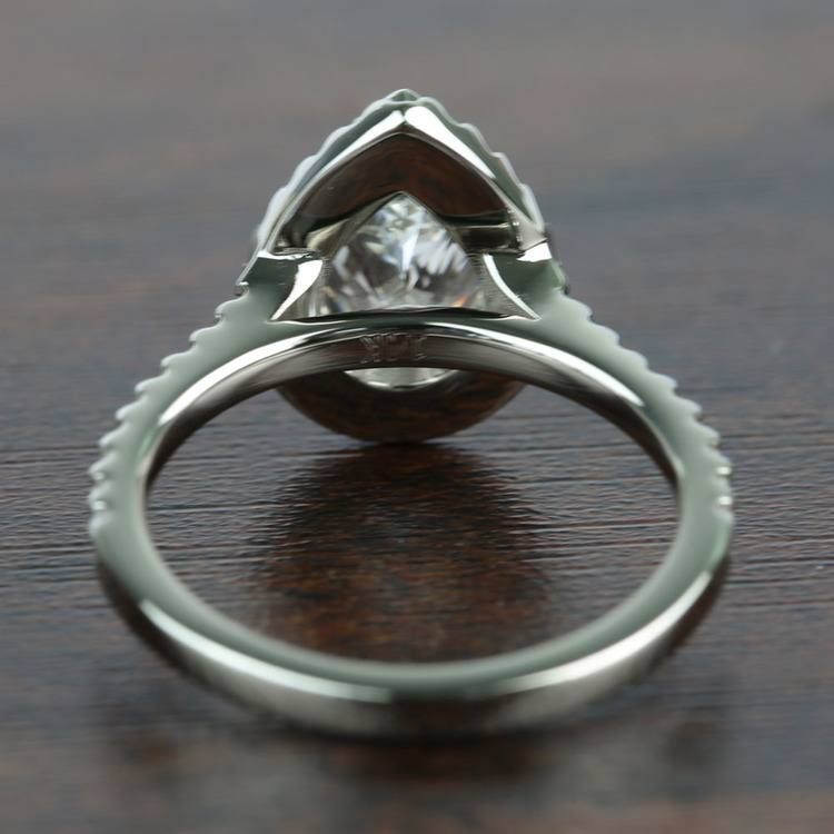 1.73 Carat Pear Halo Diamond Engagement Ring angle 4