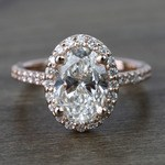 1.76 Carat Oval Halo Diamond Engagement Ring - small