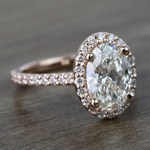 1.76 Carat Oval Halo Diamond Engagement Ring - small angle 3