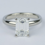 1.80 Carat Classic Emerald Diamond Solitaire Engagement Ring - small
