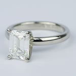 1.80 Carat Classic Emerald Diamond Solitaire Engagement Ring - small angle 2