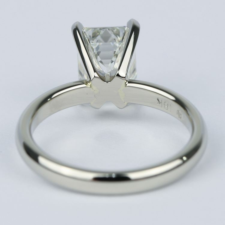 1.80 Carat Classic Emerald Diamond Solitaire Engagement Ring angle 4