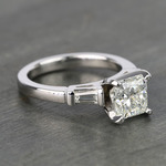 Radiant & Baguette Diamond Engagement Ring (1.8 Carat) - small angle 3