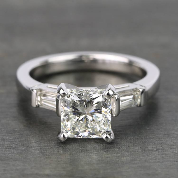 Radiant & Baguette Diamond Engagement Ring (1.8 Carat)
