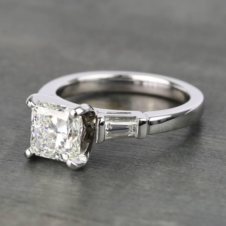 Radiant & Baguette Diamond Engagement Ring (1.8 Carat) angle 2