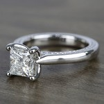 1.90 Carat Princess Diamond Braided Engagement Ring - small angle 2
