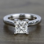 1.90 Carat Princess Diamond Braided Engagement Ring - small