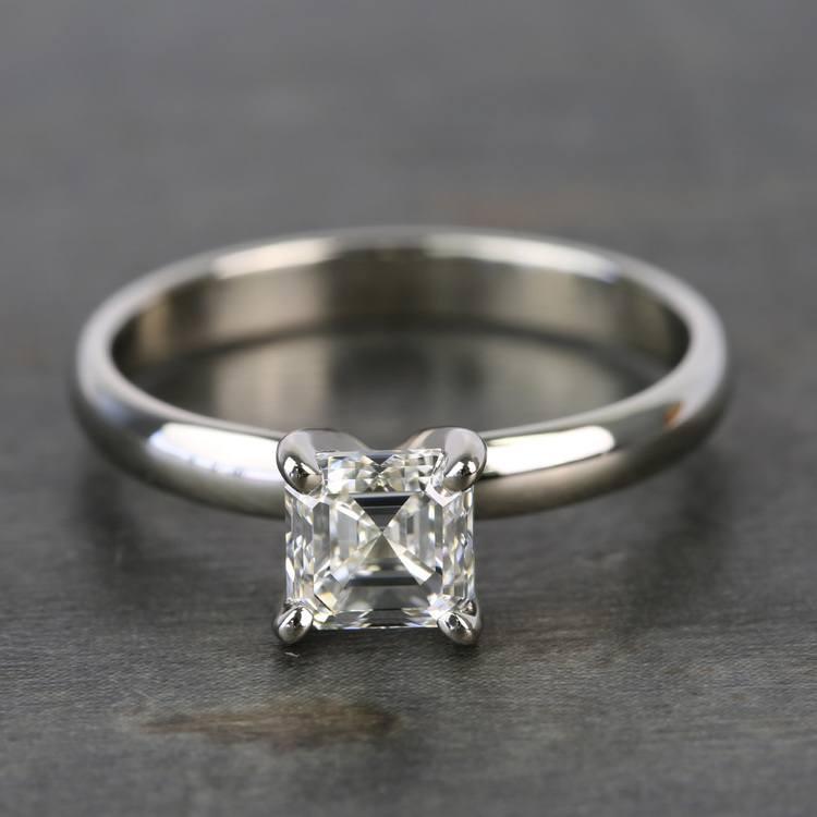 1 Carat Classic Asscher Solitaire Diamond Engagement Ring