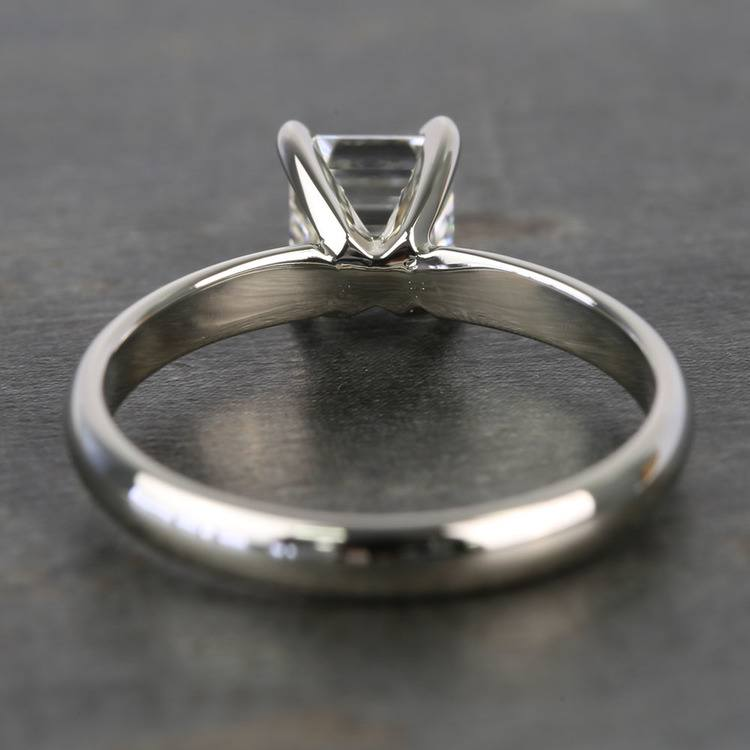 1 Carat Classic Asscher Solitaire Diamond Engagement Ring angle 4