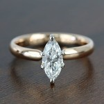 1 Carat Comfort-Fit Solitaire Marquise Diamond Engagement Ring - small