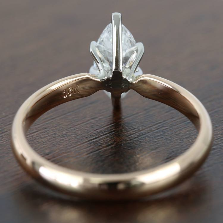 1 Carat Comfort-Fit Solitaire Marquise Diamond Engagement Ring angle 4