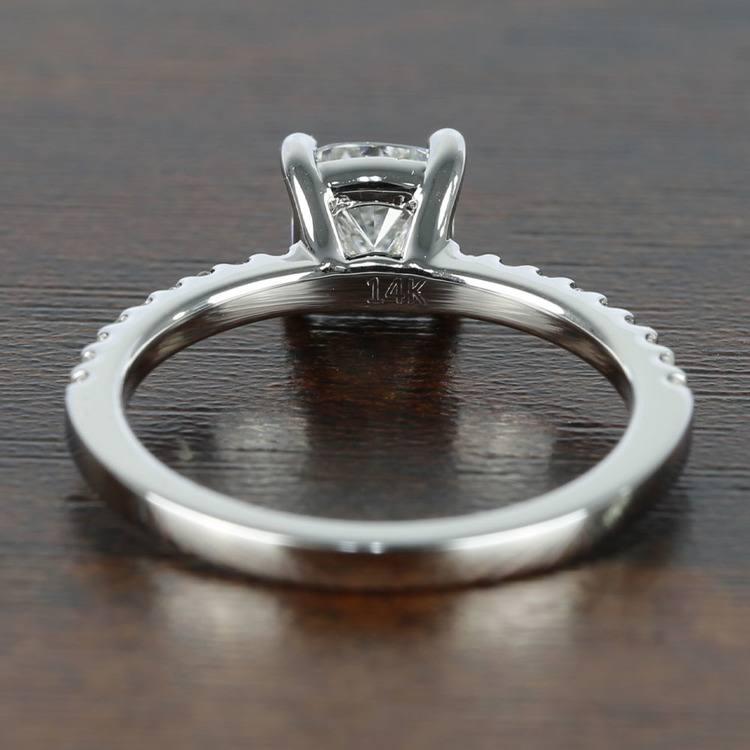 1 Carat Cushion Diamond Scallop Engagement Ring  angle 4