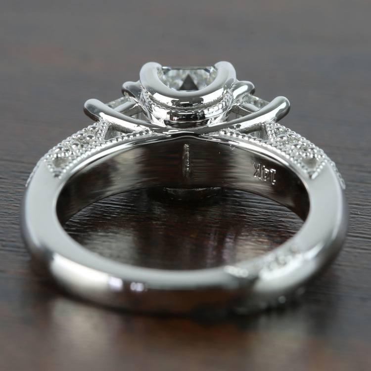 1 Carat Custom Emerald Diamond Engagement Ring angle 4