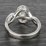 1 Carat Custom Oval Bypass Diamond Engagement Ring - small angle 4